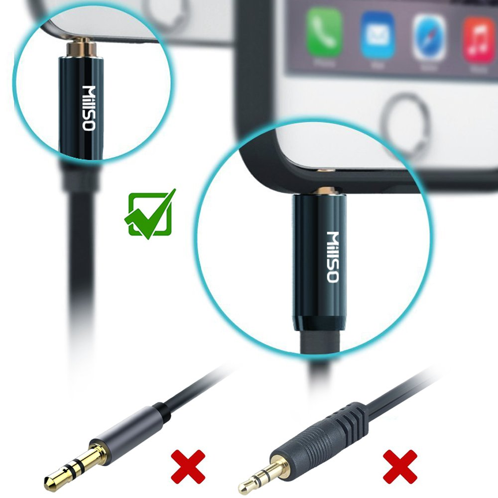 Millso Headset Splitter 35mm Jack Adapter Trrs 4 Pole Iphone Headphone No 7 Further Wiring Diagram Male To 2 Dual Female Compatible For Headphones Or Microphones Connect