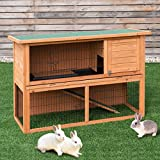 Tangkula Large Chicken Coop Outdoor Garden Backyard Wood Hen House Rabbit Hutch Poultry Small Animal Cage