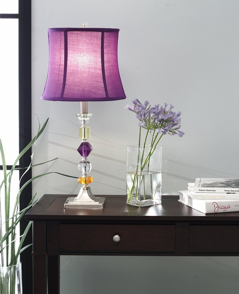 Purple bijoux table lamp lamps for bedrooms amazon geotapseo Gallery