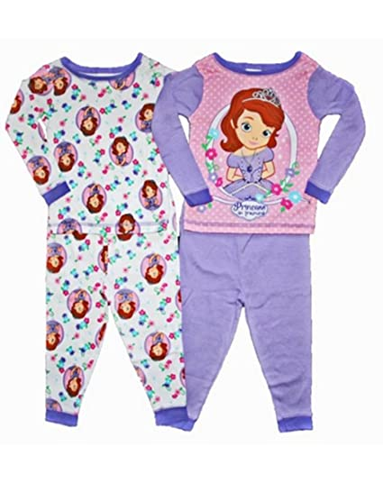 baff954954 Disney Sofia the First Toddler Girls 4 Pc Cotton Sleepwear Set (2T)