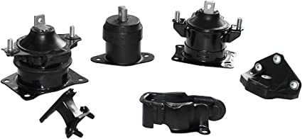 Hydraulic Motor Mount /& Auto Trans Mount Set 6PCS for 03-07 Honda Accord 3.0L