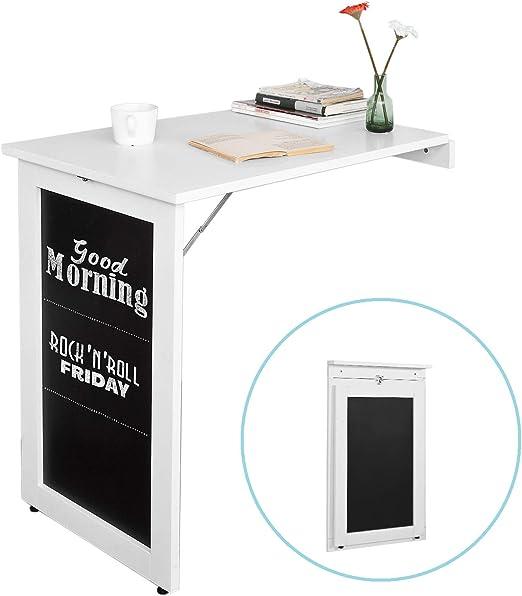 SoBuy® Mesa de ordenador armario de pared, Mesa de escritorio de ...