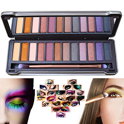 Ambito 12 Color Eye Palette,Eyeshadow Eye Shadow Palette Makeup Kit Set Make Up Professional Box Highly Pigmented for Naked Natural Nude Bronze Shimmer or Smokey Eye Makeup (#2)