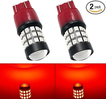2X Auito 7443 7440 7444 LED Brake Tail Stop Light Bulb Flash Strobe Blinking