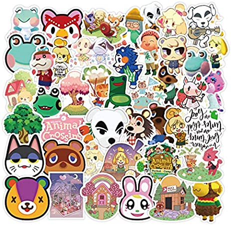 WWLL 50 Animal Crossing Friends Waterproof Cartoon Cute