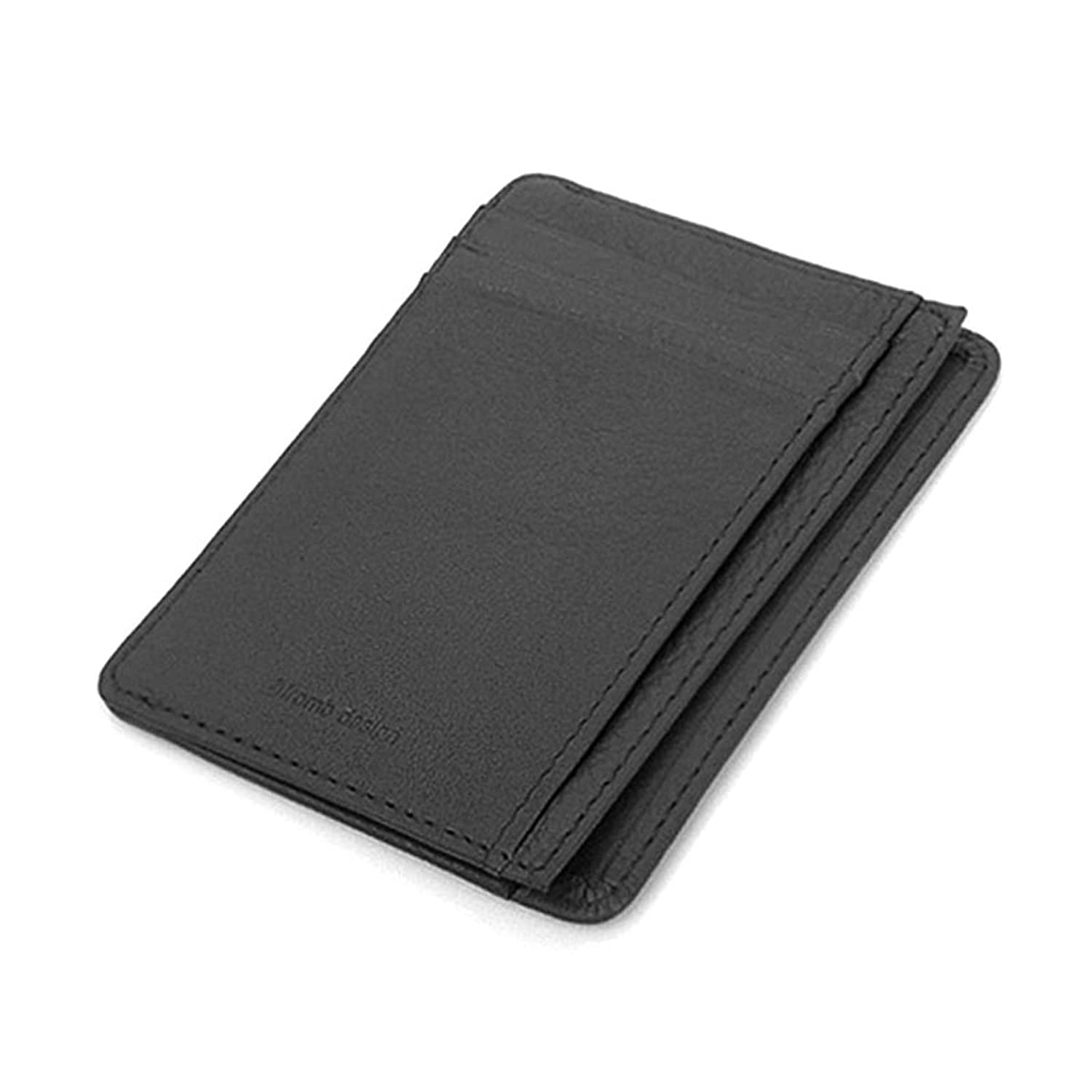 Leather Accordion Zipper Name Card Wallet Useful Credit Card ...
