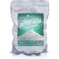 Ecoxall Chemicals - Number 1 - Highly Effective Multi-Purpose - Fine Powder Boric Acid - 99.9% Pure Anhydrous - 1 Pound Bag - Industrial Grade Strength