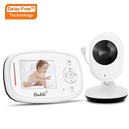 Bable Vigilabebés X1-Plus con tecnología Delay-Free, 2.4GHz vigilabebes con cámara
