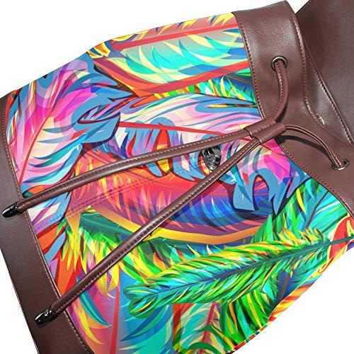 Talla Mujer Mochila Para Multicolor Dragonswordlinsu Bolso De Única Piel XR40q