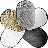 BlueDot Trading 60-90cm-5in1-reflector 5 in 1 Photo Photographic Reflector Set, 24'' by 36''