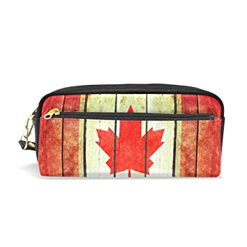 Estuche de madera retro con diseño de bandera de Canadá para ...