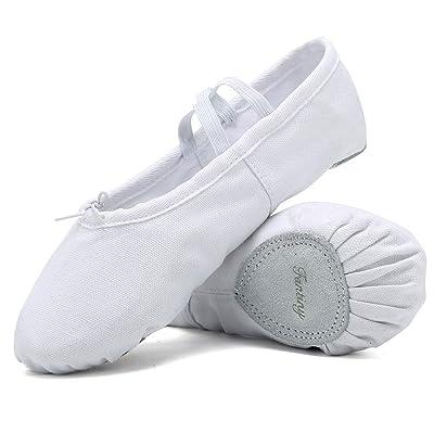 Ballet Shoes Ballet Slippers Girls Ballet Flats Canvas Dance Shoes Yoga Shoes(Toddler/Little Kid/Big Kid/Women/Boy) | Ballet & Dance