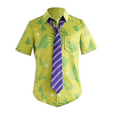 Camisa de Manga Corta para Hombre, diseño Hawaiano, Playa, Hojas ...