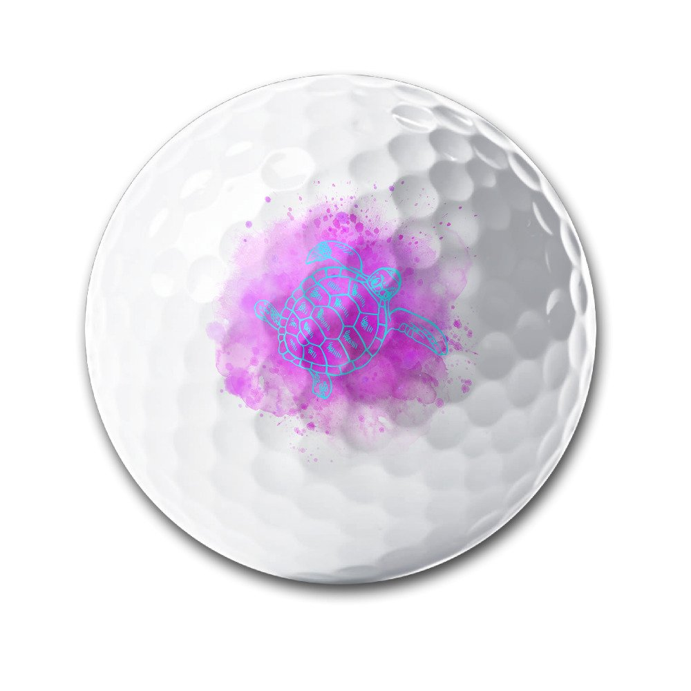 Nueva wotercolor fluorescente mar tortuga pelotas de golf blanco ...