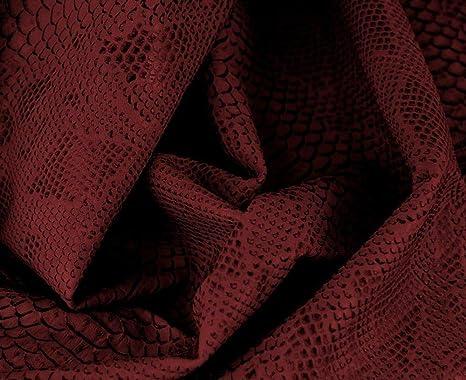 HAPPERS 0,50 Metros de Polipiel para tapizar, Manualidades, Cojines o forrar Objetos. Venta de Polipiel por Metros. Diseño Drak Color Burgrundy Ancho ...