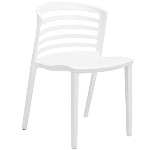 Modway Curvy Plastic Chair, White
