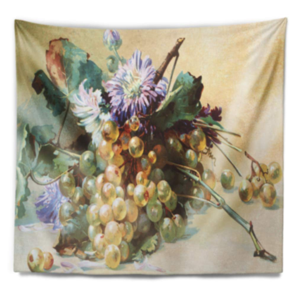 80 in in Designart TAP7483-80-68  Digital Illustrated Flowers Floral Blanket D/écor Art for Home and Office Wall Tapestry x Large x 68 in