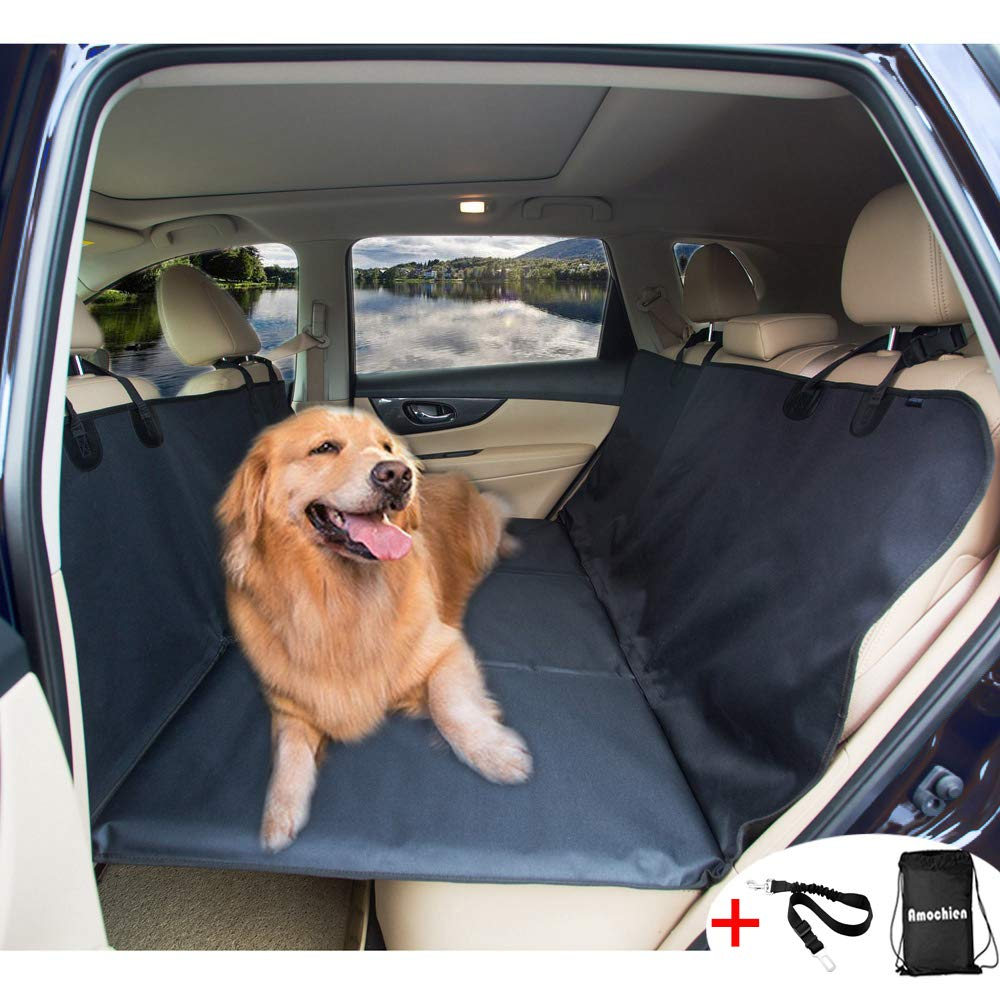 AMOCHIEN Dog Backseat Extender - Backseat Bridge for Dogs Ideal for Trucks, SUVs, and Full Sized Sedans Backseat Extender for Dogs Pet Heavy-Duty Dog Foam Platform Water Resistant