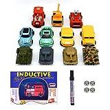 Sportsvoutdoors Mini Inductive Car, 2 Piece Train Toy Running Along The Line Drawn by Magic Pen-Good, Halloween…