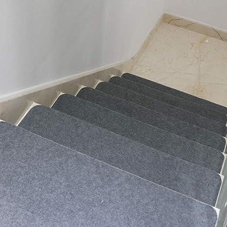 work out 15 Piezas Alfombras para escaleras - Alfombrillas para peldaños Antideslizantes Adhesivas Amortigua Sonidos Antideslizante Rugs Juego Alfombrillas-Gris_21 cm x 90 cm: Amazon.es: Hogar