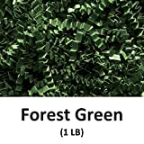 Crinkle Cut Paper Shred Filler (1 LB) for Gift Wrapping & Basket Filling - Forest Green | MagicWater Supply
