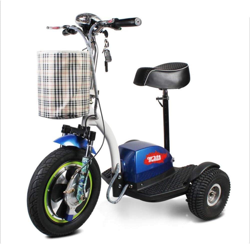 MMRLY Tres Ruedas Scooter eléctrico Triciclo Adecuado para Adultos Hombres Mujeres Mayores Y con Discapacidad -48V / 12A / Carga 160KG - kilometraje máximo 35-45Km