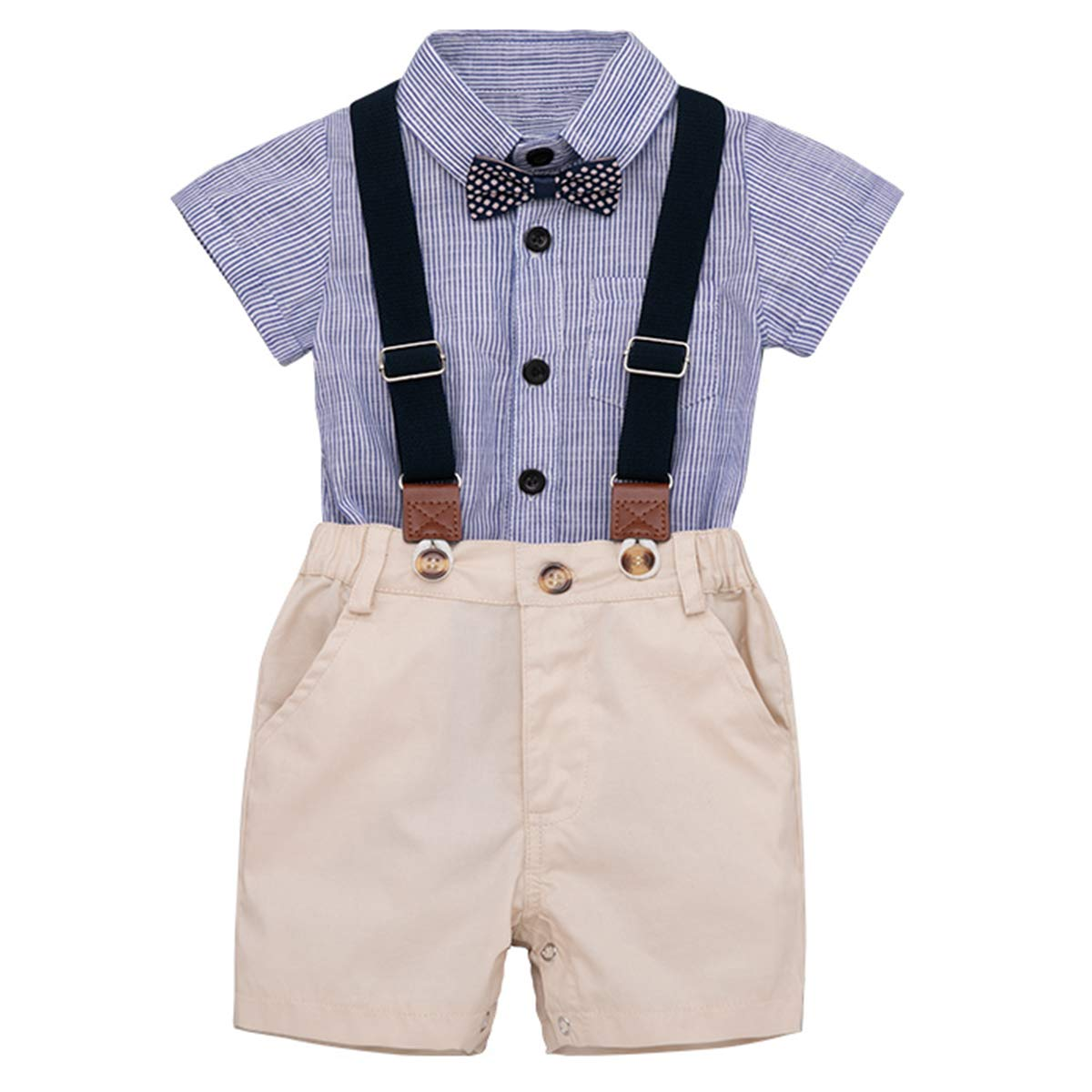 Hosentr/äger Shorts Hosen Kleidung eingestellt Chennie 0-24m S/äugling Baby Jungen Fliege Strampler