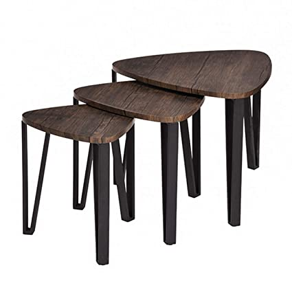 Superieur Easy Assembly Industrial Nesting Tables Living Room Coffee Table Sets  Stacking End Side Tables Leisure Wooden