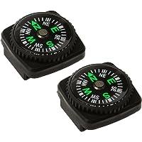 CUTICATE Set van 2 Knoppen kompas Set voor Emergency Survival Kits Horlogeband Polsband Paracord Armband en…