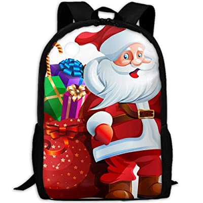 SZYYMM Personalized Santa Claus Oxford Cloth Fashion Backpack,Travel/Outdoor Sports/Camping/School, Adjustable Shoulder Strap Storage Backpack For Women And Men delicate