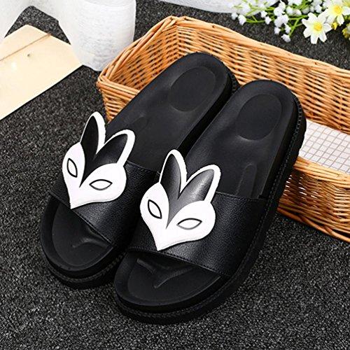 Rcool Damen Sommer Pantoffeln Flat Heels Sandalen Komfort Flat Heels Schuhe Zehentrenner Weiß