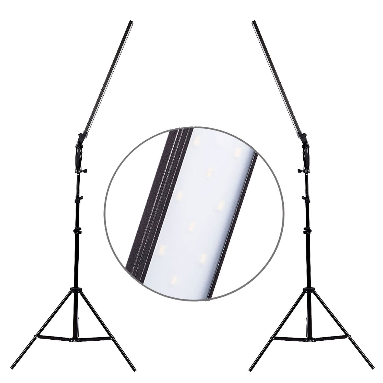 LED 30W Photo Studio Video Dimmable Lighting handheld Light Softbox 2M Stand