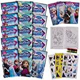Set Of 15 Bendon Kids Frozen Play Fun Party Favors Packs Coloring Book Crayons Stickers