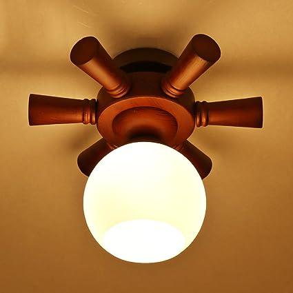Durable Lámparas de techo, Madera maciza Luces del pasillo ...