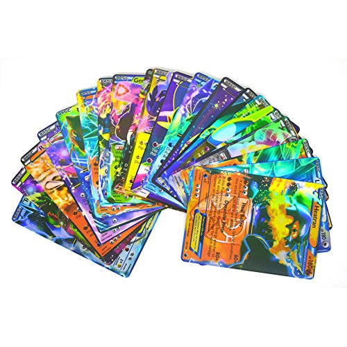 Pokemon 100 PCS TCG MEGA Flas Cards 80 EX 20 MEGA Cards Lot Rare Art NO REPEAT US 2017