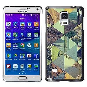 Paccase / SLIM PC / Aliminium Casa Carcasa Funda Case Cover para - Texture Pattern Gold Abstract Blue - Samsung Galaxy Note 4 SM-N910F SM-N910K SM-N910C SM-N910W8 SM-N910U SM-N910