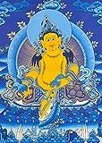 Tibetan Buddhist Kubera - Tibetan Thangka Painting