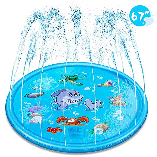 EocuSun Sprinkler for Kids, Sprinkle and Splash Play Mat 68,Outside Toy Water Toys for Kids Outdoor, Outdoor Toys for Toddlers Age 3-5