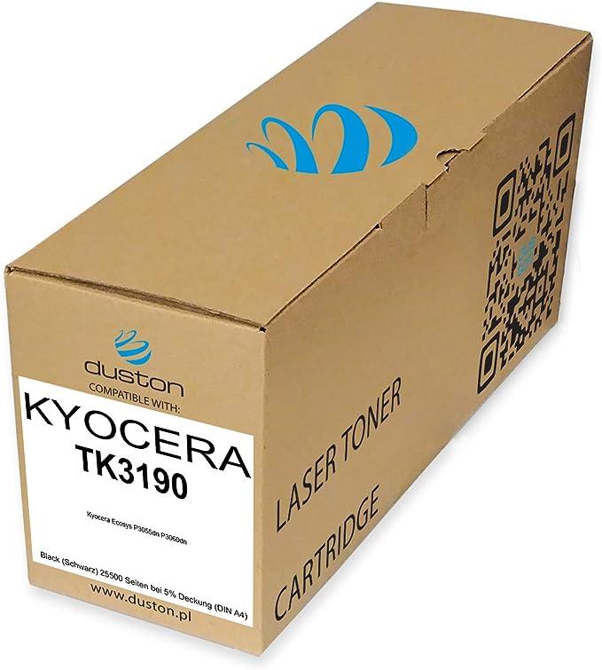 Tk3190 Tk 3190 Schwarz Duston Toner Kompatibel Zu Kyocera Ecosys P3055dn P3060dn Bürobedarf Schreibwaren