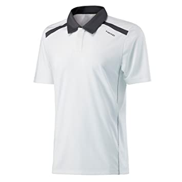 Head Visión de la Cabeza Hombres Camisa de Polo, Hombre, Color Blanco, tamaño Small: Amazon.es: Deportes y aire libre