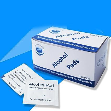 YiWa 100 pcs/caja Alcohol comprimidos desechables médicos herida de desinfección Alcohol toallitas accesorios de