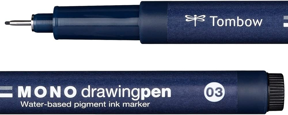 Pennarello a punta fine MONO drawing pen Tombow WS-EFL03 tratto 03 colore: Nero