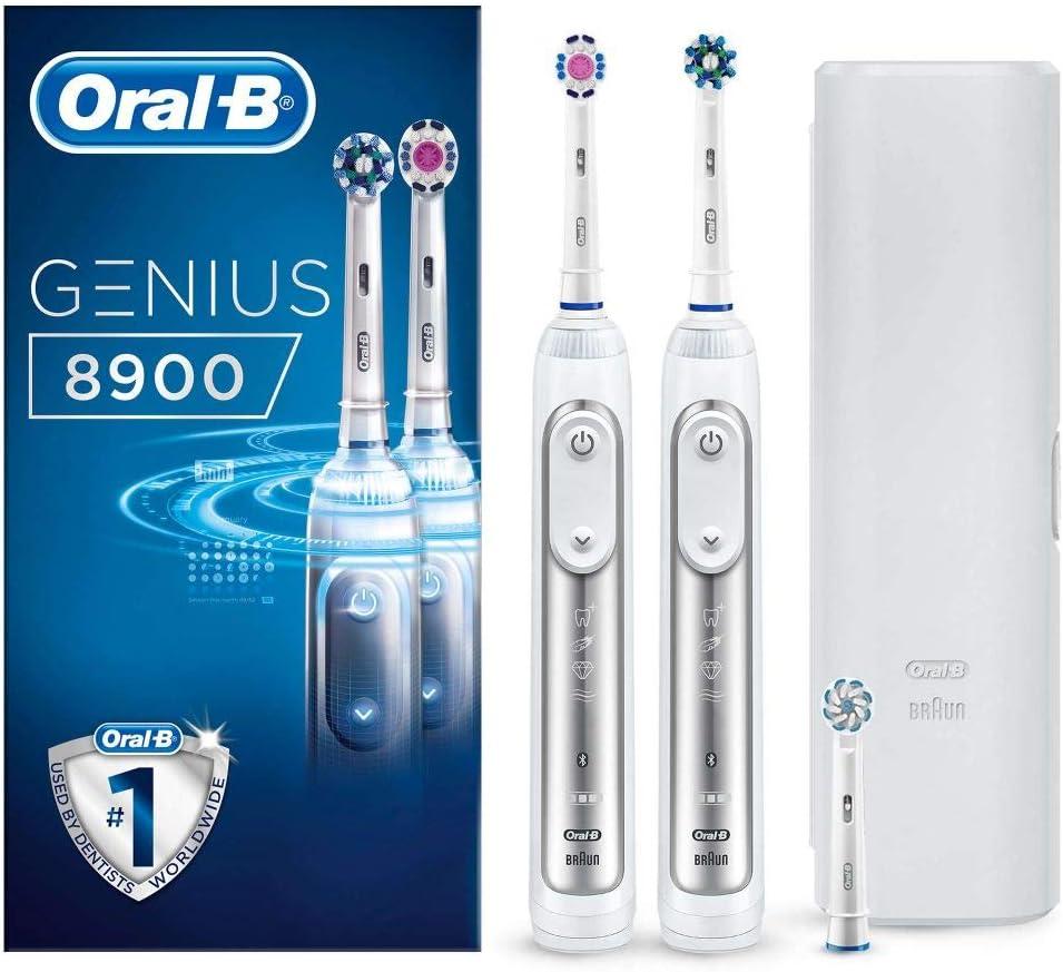 Oral-B Genius 8900 - Cepillo de dientes eléctrico, con Tecnología de Braun, 2unidades