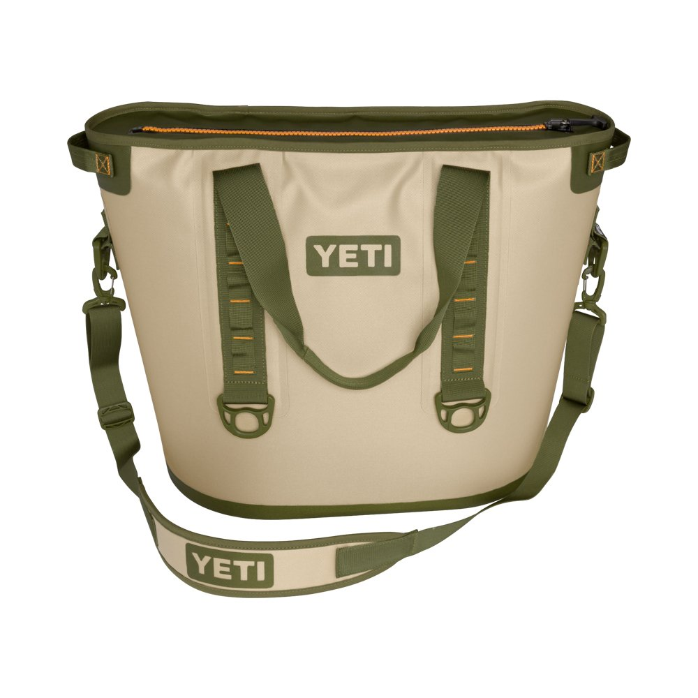 YETI Hopper 40 Portable Cooler Field Tan Blaze Orange