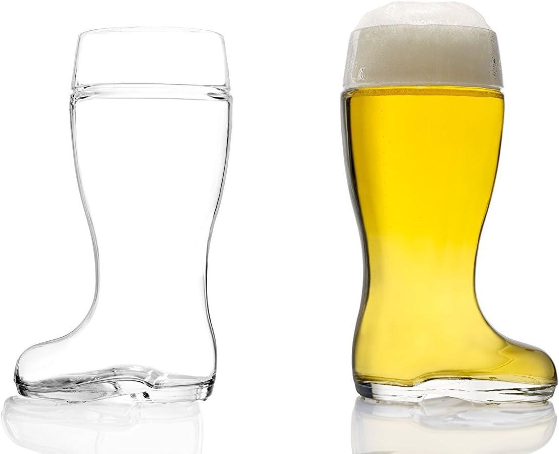 Stölzle exterior Cristal cerveza botas 0,5L–con llenado, cerveza cristal, botas, botas de cristal, 2unidades, apto para lavavajillas, alta calidad.