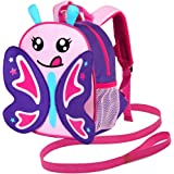 Toddler Backpack for Boys and Girls - Kids Preschool Kindergarten Bags with Cute Animal Cartoon Design