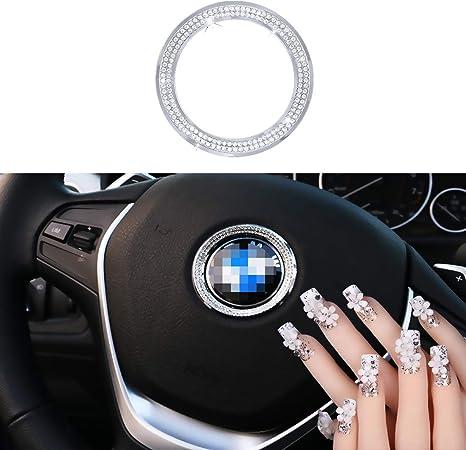 Unique Gift for Women for Infiniti Charrost Bling Bling Car Steering Wheel Logo Badge Emblem Cover Diamond Decoration