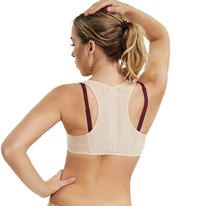 cad0af54503f2 Image Unavailable. Image not available for. Color  Posture Corrector  Shapewear for Women Compression Bra Chest Brace Up Support Tops ...