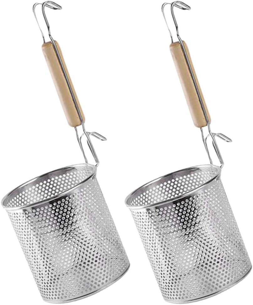 Fenteer Panier /à Tamis avec Manche Inoxydable Ustensile de Cuisine Passoire Nouilles