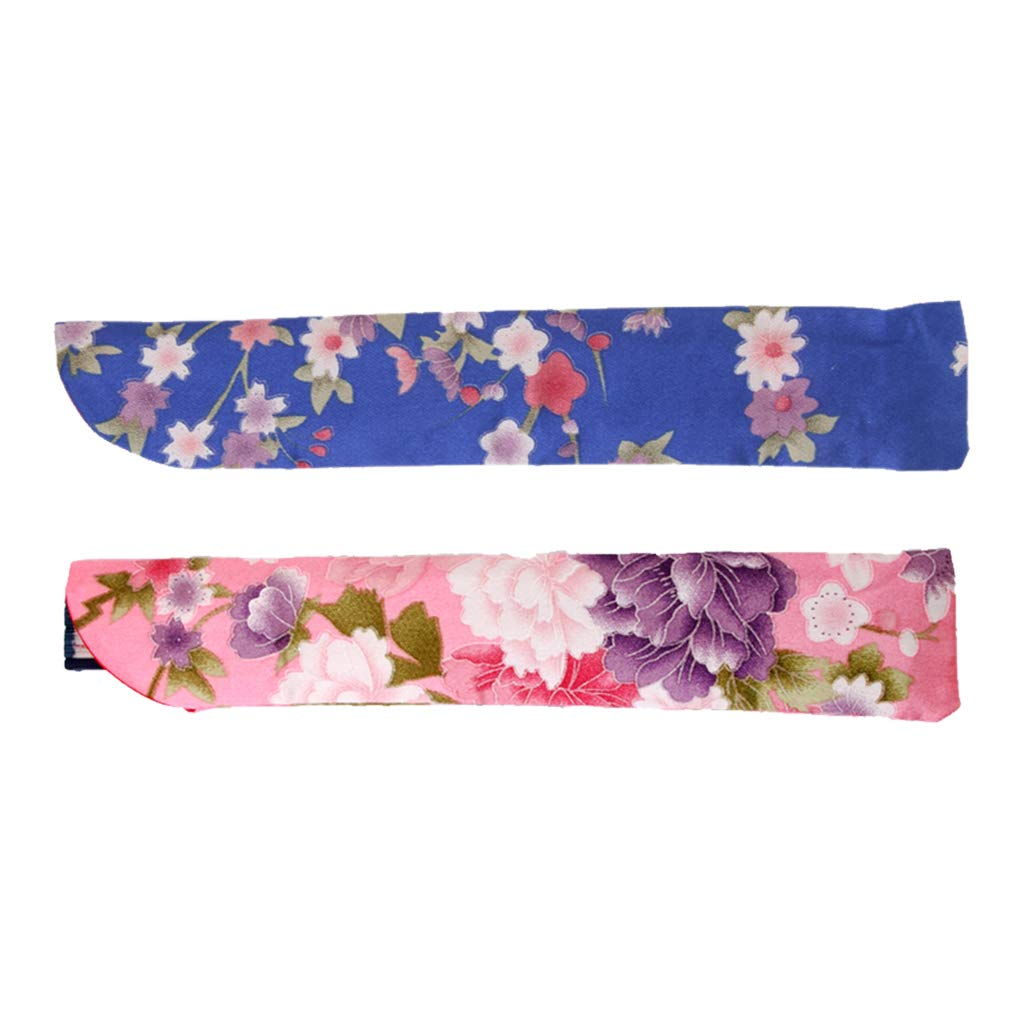 2x Silk Hand Fan Holder Pocket Bag Pouch Protector for Folding Fan Cover